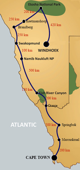 Cape Town to Windhoek