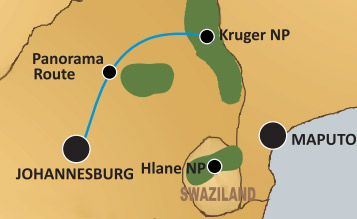Kruger National Park tour map